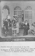Expo Univer  De Gand 1913  Magasin De Fleurs& Plumes Pour Modes à Paris. - Mode