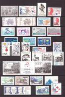 FRANCE - 1988 - Année Complète - Timbres Et Carnets Neufs **