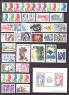 FRANCE - 1982 - Année Complète - Timbres Et Feuillet Neufs **