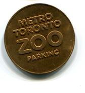 Metro Toronto Canada Zoo Parking  Token - Monetary /of Necessity