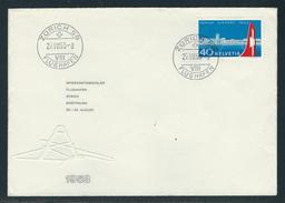1953 MiNr. 585 ERSTTAGSBRIEF Gestempelt, 29. VIII 53, ZÜRICH FLUGHAFEN - Schweiz