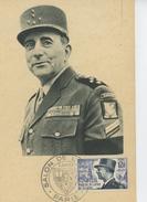 MILITARIA - Carte PREMIER JOUR 5 JUIN 1954 MUSEE DE L'ARMEE - Portrait Du MARECHAL DE LATTRE DE TASSIGNY - Personaggi