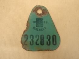 Lot. 675. Ancienne Plaque De Vélo Du Hainaut De 1935 - Plaques D'immatriculation
