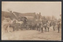 Carte Photo - Epicerie Et Droguerie Flament Roussel BETHUNE (62) Attelage Militaire (Lot 1-84) - Bethune