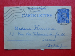 ENTIER POSTAL TYPE MERCURE CACHET EVREUX 1940 - Postal Stamped Stationery
