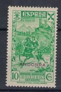 0055 ANDORRA BENEFICENCIA Nº 10 CON CHARNELA - Andorra Española