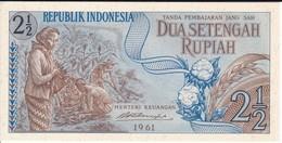 BILLETE DE INDONESIA DE 2,50 RUPIAH AÑO 1961  (BANKNOTE) SIN CIRCULAR-UNCIRCULATED - Indonesia