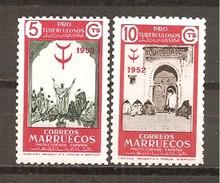 Marruecos Español - Edifil 361-62 - Yvert 435-36 (MNH/**) - Marruecos Español