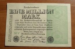 1923 - Allemagne - Germany - EIN MILLION MARK, Berlin, Den 9 August 1923, Weimar Republic, MV - [ 3] 1918-1933 : Weimar Republic
