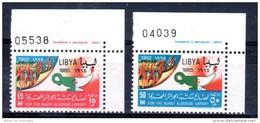 7.6.1965, Bibliotheque D´Algier, YT No. 270 + 271 Coin Avec No. , Neuf ** , Lot 45875 - Libia