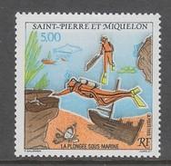 TIMBRE NEUF DE ST-PIERRE & MIQUELON - LA PLONGEE SOUS-MARINE N° Y&T 574