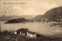 LAVENO - Viaggiata 1913 - Cm. 9x14  (Vedi 2 Foto) Ondulazione - Varese