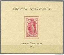 Soudan (1937) Bloc Feuillet N 1 * (charniere)