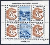 HUNGARY 1973 European Security Conference Block Used.  Michel Block 99 - Blocks & Kleinbögen