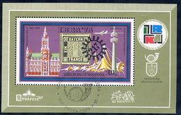 HUNGARY 1973 IBRA '73 Exhibition Block Used.  Michel Block 97 - Blocks & Kleinbögen