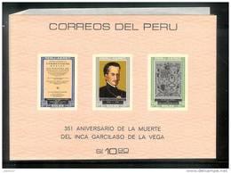 Peru - Inca Garcilaso De La Vega - Bloc 7 - ** MNH - Pérou