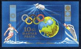 HUNGARY 1972 Olympic Publicity Block MNH / **.  Michel Block 89 - Blocks & Sheetlets
