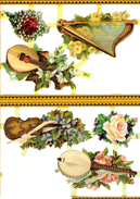 INSTRUMENTS DE MUSIQUE HARPE VIOLON VIOLE BANJO - Flowers