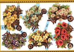 BROUETTES CORBEILLES DE FLEURS JARDIN - Fleurs