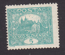 Czechoslovakia, Scott #42a, Mint Hinged, Hradcany At Prague, Issued 1919 - Unused Stamps