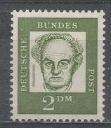 Germany 1962. Scott #839 (MNH) Gerhart Hauptmann * Fluorescent - Unused Stamps