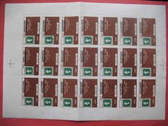 Feuille 21 Timbres De Greve 1971 , Post Office Strike 1971 Overprint Birmingham MNH - Sheets, Plate Blocks & Multiples