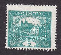 Czechoslovakia, Scott #42a, Mint Hinged, Hradcany At Prague, Issued 1919 - Czechoslovakia