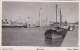 Uruguay Montevideo Aduana Port Scene Real Photo