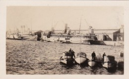 Uruguay Montevideo Harbor Scene With Steamers  Real Photo