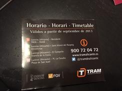 Transit Map Alicante - Subway Bus Tram - World