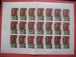 Feuille 21 Timbres De Greve 1971 , Post Office Strike 1971 Overprint Manchester  MNH - Sheets, Plate Blocks & Multiples