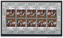 Lituania 1998 Europa Cept Unif. 597 Minifiglio Di 10 Val **/MNH VF - Lithuania