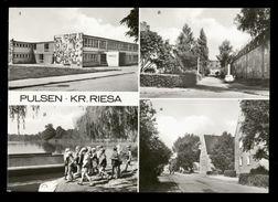[021] Pulsen (Röderaue), Großteich, Leninstraße, Ernst-Thälmann-Str., Dat. 1984, VEB Bild & Heimat, DDR - Meissen