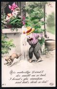 9738 - Alte Glückwunschkarte - Geburtstag - Hand Coloriert - Amag - N. Gel - TOP - Geburtstag