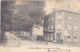 Virton St Mard - Avenue De La Gare (animée, Café, DVD, Précurseur, 1903.....taches) - Virton