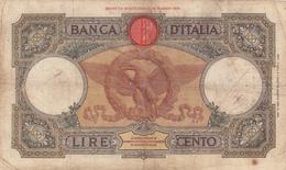 Lire 100 Aquila Romana, Vittorio Emanuele III Dec. 29 Gennaio 1938 Firme Azzolini E Urbini. Macchie Ma Integra - 100 Lire