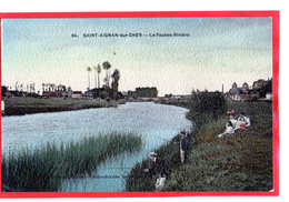 SAINT AIGNAN Sur Cher (41) Pécheurs Dans La Fausse Rivière . 2 Scans (cpa 58) - Saint Aignan