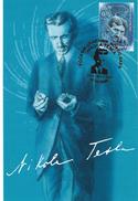 Nikola Tesla - Honorary Citizen Of Novi Sad,12.10.2006.Serbia & Montenegro.Sciences,Famous People,Energies,Maximum Card - Persönlichkeiten