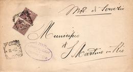 1910 LETTERA CON ANNULLO CORREGGIO - Storia Postale