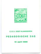 Uitnodiging - Pedagogische Dag 15 April 1966 - Casino In Gent - C.O.V. Oost-Vlaanderen - Faire-part