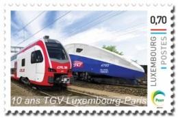 Luxembourg (Meng Post) 2016 No. 88 TGV Train Luxembourg-Paris MNH **