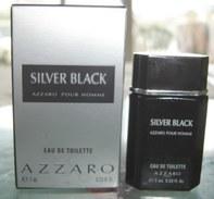 SILVER BLACK - EDT 7 ML De AZZARO - Miniatures Hommes (avec Boite)