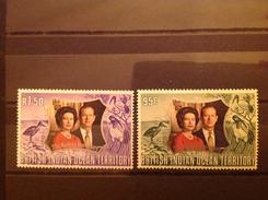 British Indian Ocean Territory 1972 Silver Jubilee Mint SG 45-6 - Britisches Territorium Im Indischen Ozean