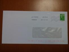 FRANCIA - France - 2012 - Timbre M De BEAUJARD Vert - Viaggiata Da 03151A - France