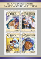 DJIBOUTI 2016 ** Mother Teresa Canonization Heiligsprechnung M/S - IMPERFORATED - A1702 - Mother Teresa