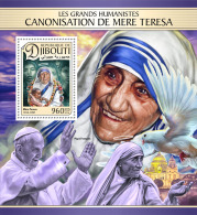 DJIBOUTI 2016 ** Pope Francis Mother Teresa S/S - IMPERFORATED - A1702 - Pausen