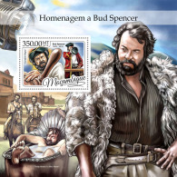 MOZAMBIQUE 2016 ** Tribute To Bud Spencer Cinema Film S/S - IMPERFORATED - A1702 - Cinema