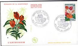 MARTINIQUE FRANCE FDC Yvert 1738 Floralies De Martinique 1973 - Martinique (1886-1947)
