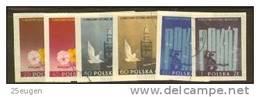 POLAND 1955 MICHEL 922B-927B  SET USED - Usados