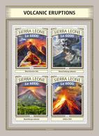 SIERRA LEONE 2016 ** Volcanic Eruption Vulkanausbrüche L'éruption Volcanique M/S - IMPERFORATED - A1702